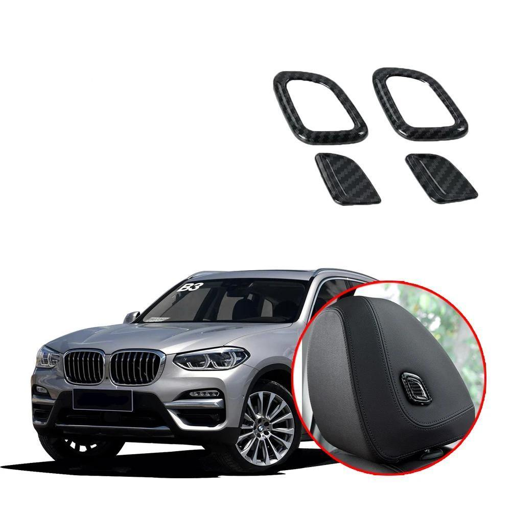 NINTE BMW X3 G01 2018-2019 Front Seat Head Pillow Adjustment Buttons Decoration Cover - NINTE