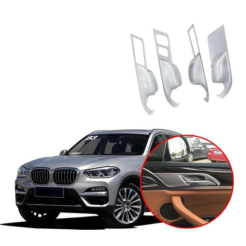 NINTE Interior Inner Side Door Handle Bowl Trim For BMW X3 G01 2017 2018 2019 - NINTE