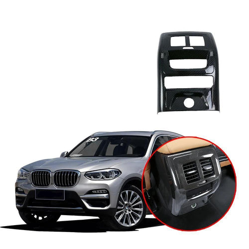 NINTE Rear Air Conditioning Cover For BMW X3 G01 2017-2019 Armrest Box AC Vent Outlet Molding Trim - NINTE