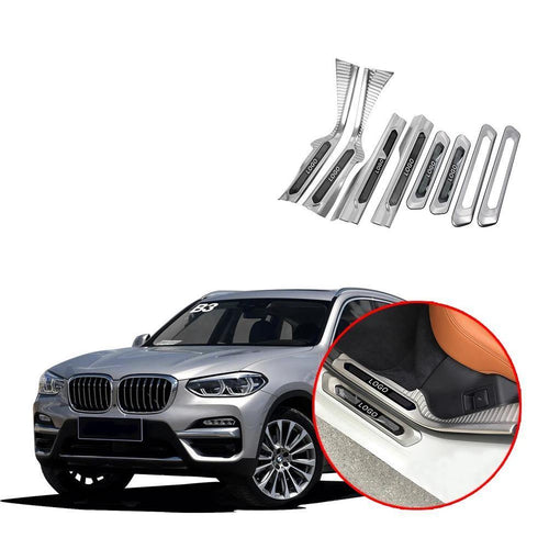 Door Sill Scuff Plate Guard Protector For BMW X3 G01 2018 2019 NINTE - NINTE