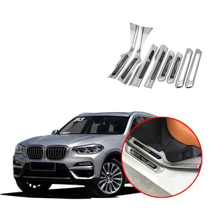 NINTE Door Sill Scuff Plate Guard Protector For BMW X3 G01 2018 2019 - NINTE