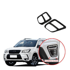 Piano Black Front Fog Light Lamp Cover Trim Sticker For Subaru Forester SK 2019 NINTE - NINTE