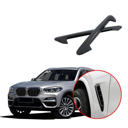 For BMW X3 G01 2018 2019 Outside Body Flow Fender Molding Cover Kit Trim NINTE - NINTE