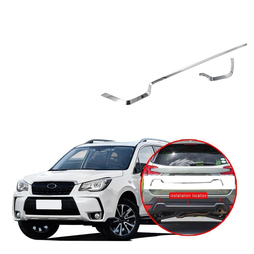 NINTE Subaru Forester 2019 Chrome Silver Upper Rear Bumper Strip Trim Cover - NINTE