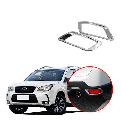 Chrome Rear Tail Fog Light Lamp Cover Trim Stickers For Subaru Forester 2019 NINTE - NINTE