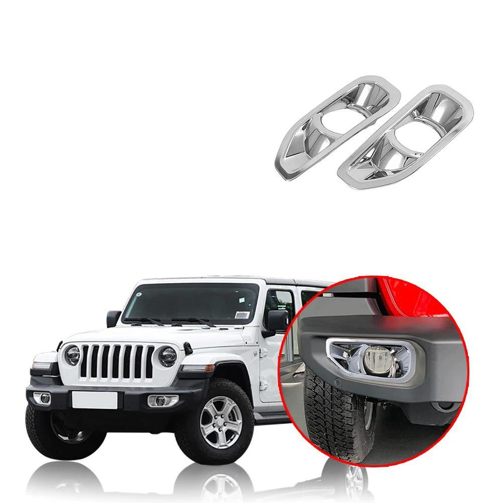 NINTE Jeep Wrangler JL 2018-2019 Front Fog Light Lamp Cover Decoration - NINTE