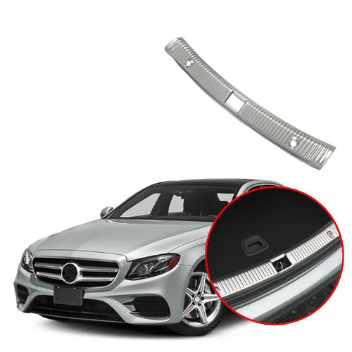 Interior Rear Bumper Protector Trunk Guard Sill Plate Scuff Cover Trim Silver For Mercedes Benz E Class W213 2017-2019 NINTE - NINTE