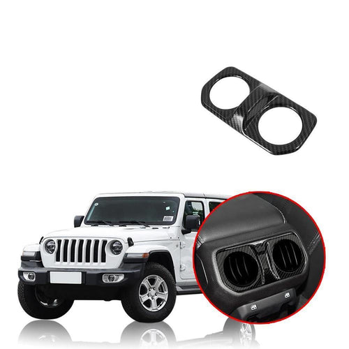 Car Armrest Box Air Conditioning Outlet Decoration Cover Trim Sticker for Jeep Wrangler JL 2018 2019 NINTE - NINTE