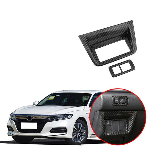 NINTE Headlight Adjustment Button Cover Sticker Trim For Honda Accord 10th 2018 19 - NINTE