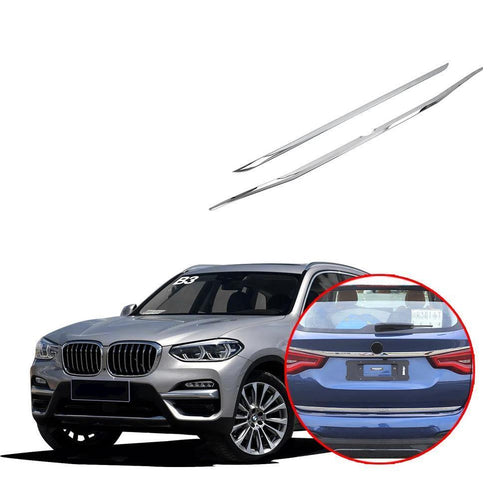 NINTE Rear Tail Trunk Lid Molding Covers Trim For BMW X3 G01 2018 2019 - NINTE