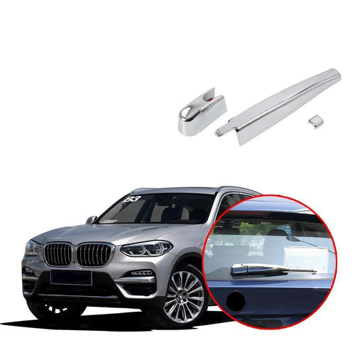 NINTE Chrome Rear Window Wiper Strips Cover Trim For BMW X3 G01 G08 2018 - NINTE