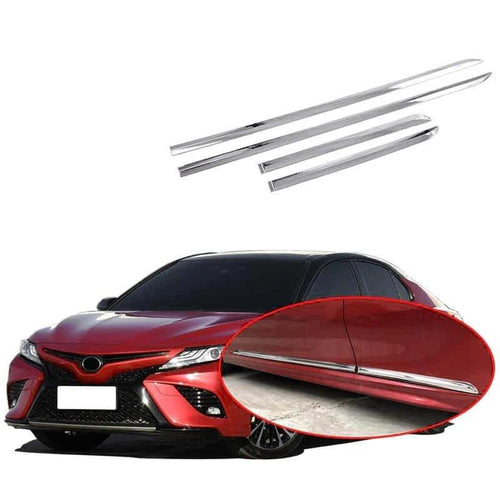 NINTE Chrome Car Body Scuff Strip Side Door Molding Streamer Cover Trim Protector For Toyota CAMRY 2018-2019 - NINTE