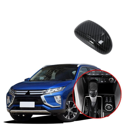 Car Styling Stalls Gear Shift Head Knob Frame Cover Trim ABS Fit For Mitsubishi Eclipse Cross 2017-2019 NINTE - NINTE
