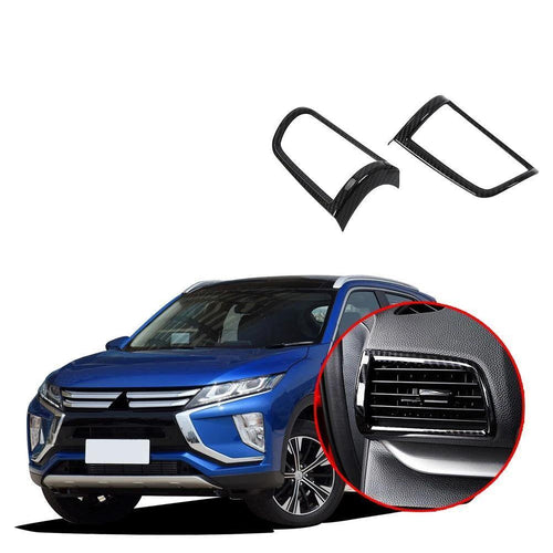 Car styling inner garnish cover trim front side Air conditioning Outlet Vent 2pcs For Mitsubishi Eclipse Cross 2017-2019 NINTE - NINTE