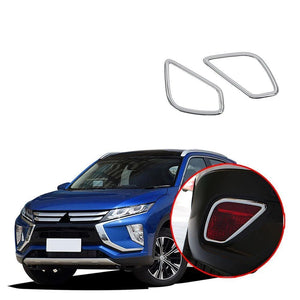 2x Chrome Outer Rear Tail Fog Light Lamp Cover Trim For Cadillac XT4 2018 2019