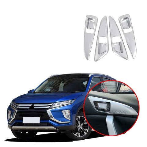NINTE 4PCS/Set ABS Interior Door Handle Bowl Cover Trim For Mitsubishi Eclipse Cross 2017-2019 - NINTE