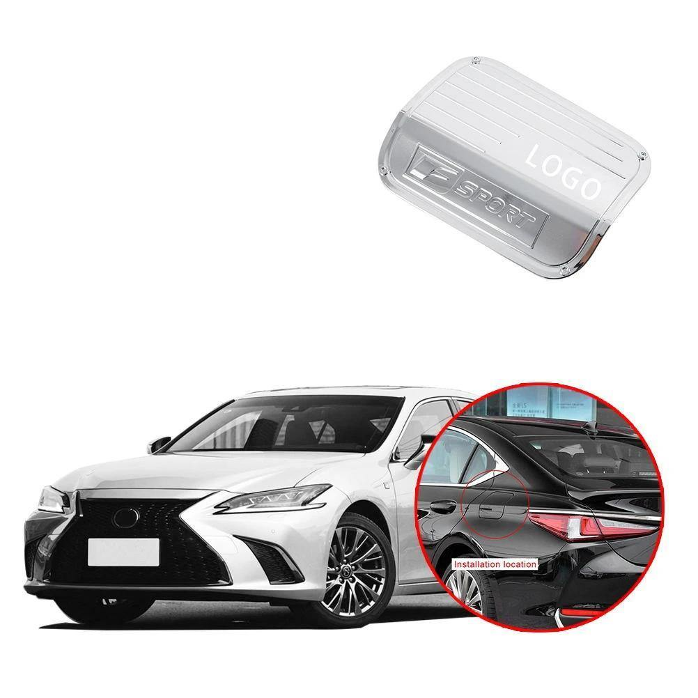 For 2018 2019 Toyota Camry Stainless steel mirror Fuel Filler Gas Cap Cover Trim