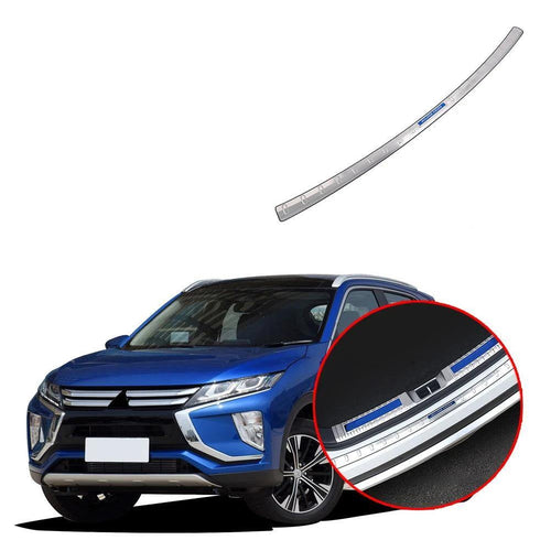 Car Accessories Interior Stainless Rear Outer Bumper Protector Scuff Plate Guard Cover Trim For Mitsubishi Eclipse Cross 2017-2019 NINTE - NINTE