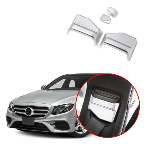 NINTE 4Pcs Seat Safety Belt Decoration Trim For Mercedes Benz E Class W213 2016-2018 - NINTE