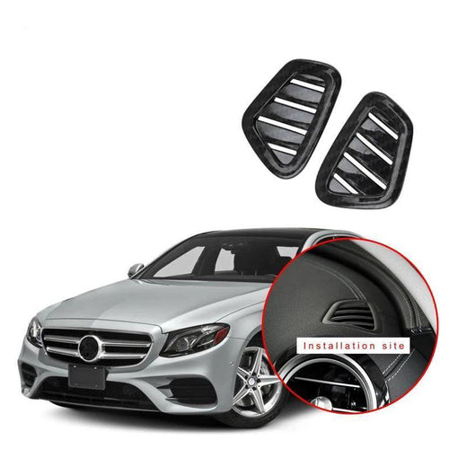 Car front up vent dashboard vent frame trim cover For Mercedes Benz E class W213 2016-2018 NINTE - NINTE