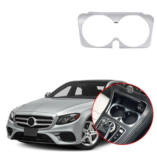 Car Styling Water Cup Holder Frame Trim decoration Sticker Cover Interior For Mercedes Benz E Class w213 2016-2018 NINTE - NINTE
