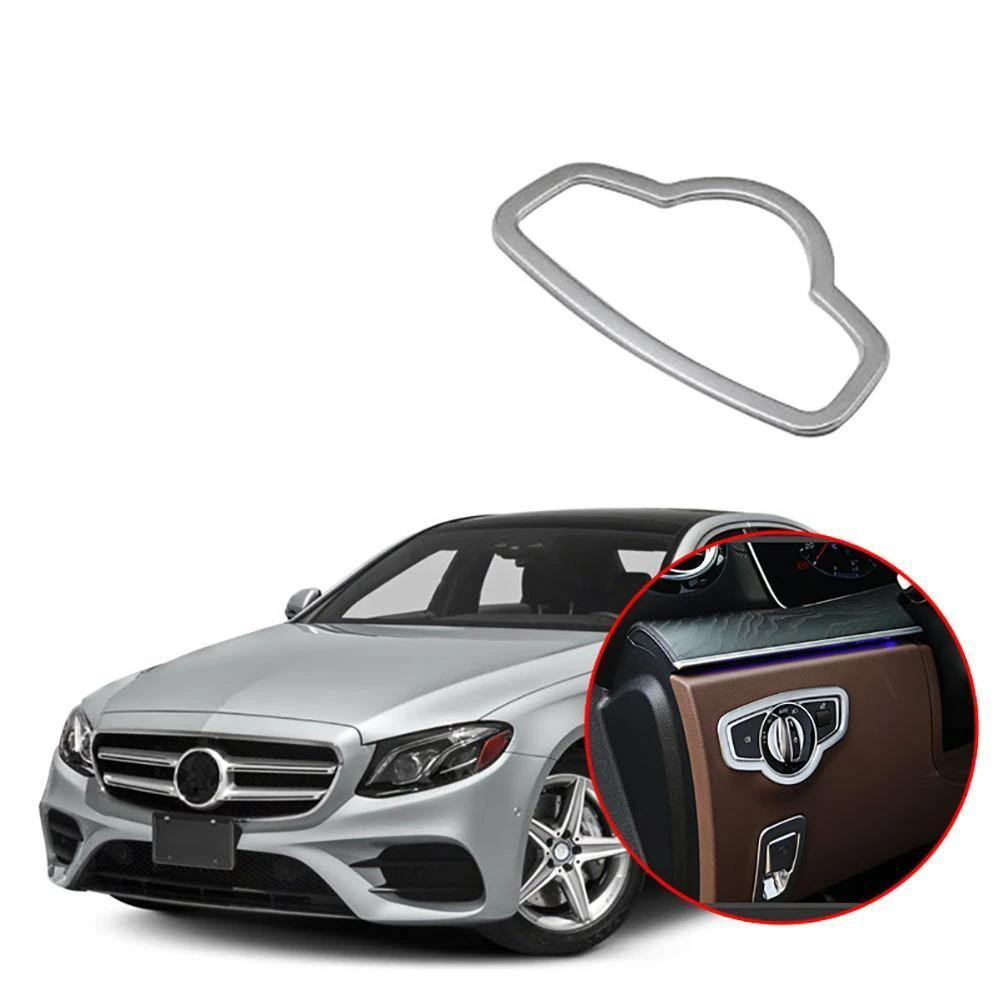 Ninte Mercedes Benz E Class W213 2016-2018 1 PCS ABS Matt Interior Headlight Lamp Adjustment Cover - NINTE