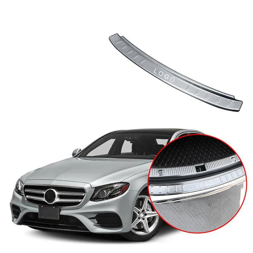 NINTE Rear Boot Outer Bumper Guard Sill Plate Protector For Mercedes Benz E-Class W213 2016-2018 - NINTE