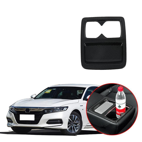 NINTE Rear Seat Water Cup Holder Coffee Bottle Cover Trim For Honda Accord 10th 2018 2019 - NINTE