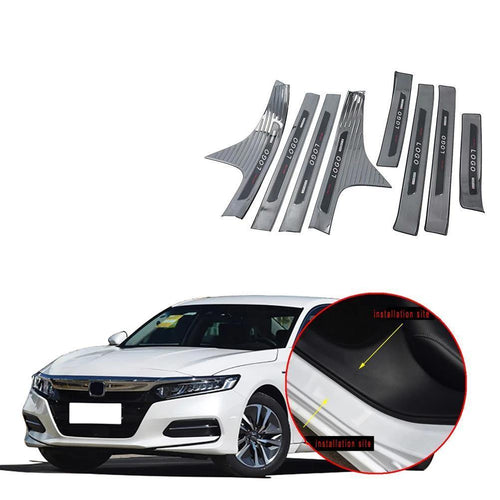 NINTE Outer & Inner Door Sill Scuff Plate Threshold Cover For Honda Accord 2018-2019 - NINTE