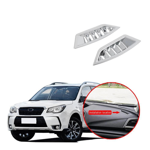 2PCS Silver plating Upper Air Vent Outlet Cover Trim For Subaru Forester 2019 NINTE - NINTE