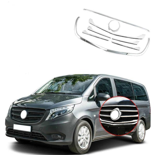 NINTE for Mercedes-Benz VITO V260 2016 2017 2018 Front Grille Cover Trim Molding ABS Chrome Car Accessories Auto Styilng - NINTE