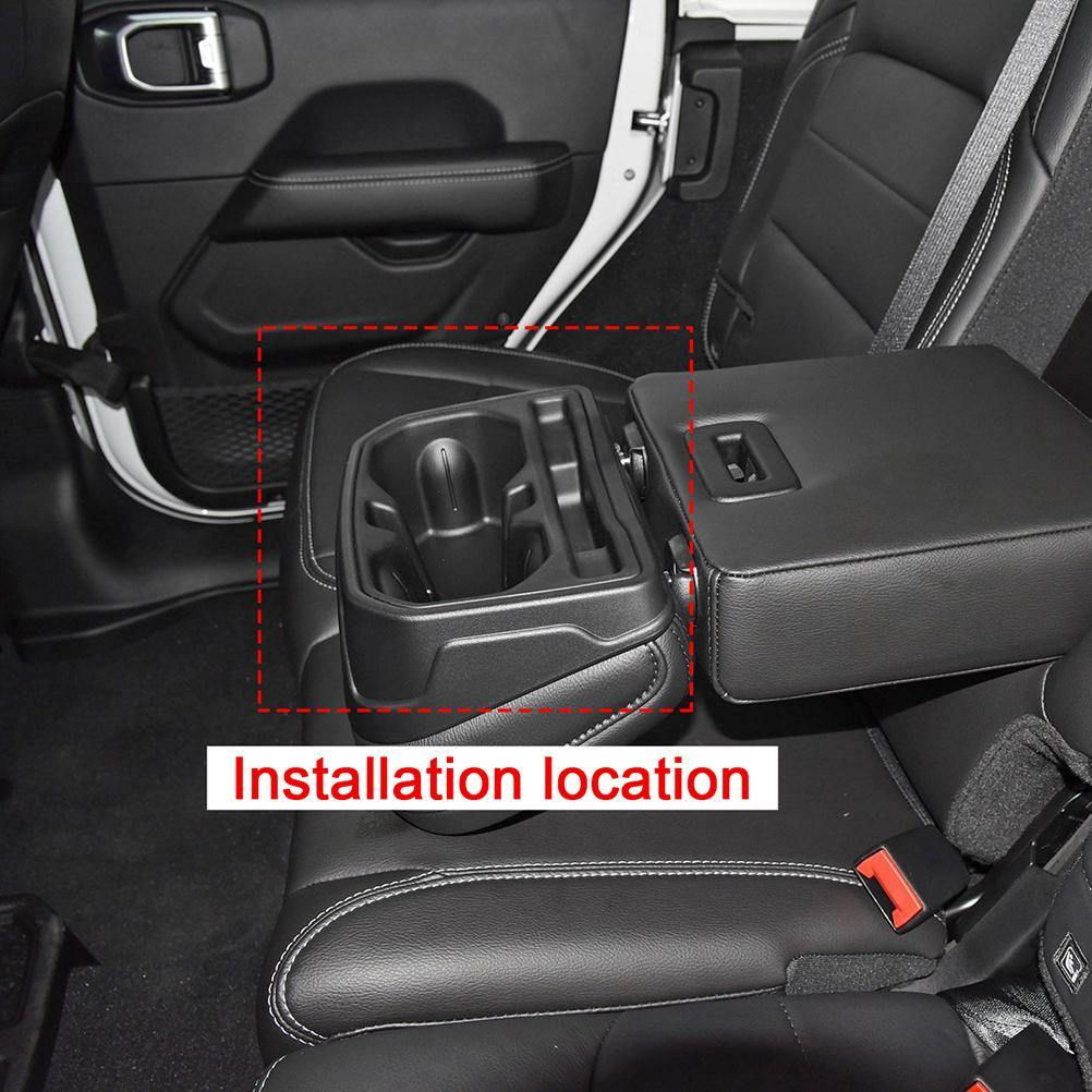 NINTE Jeep Wrangler JL 2018-2019 Interior Rear Seat Water Cup Holder Cover Decoration Stickers - NINTE