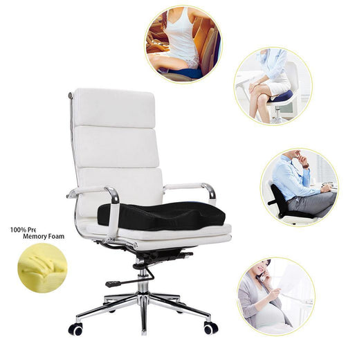 NINTE Memory Orthopedic Foam Seat Cushion Office Household Pain Relief –Washable - NINTE