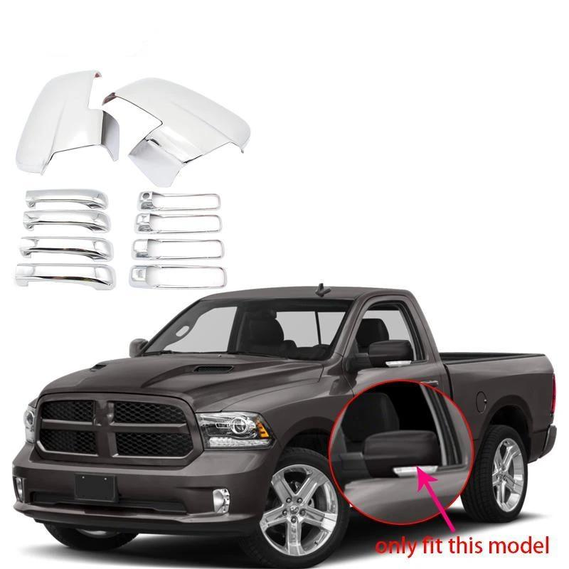 NINTE Dodge Ram 1500 2013-2018 Chrome Side View Mirrors & 4 Door Handle Covers - NINTE
