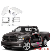 Load image into Gallery viewer, NINTE Dodge Ram 1500 2013-2018 Chrome Side View Mirrors & 4 Door Handle Covers - NINTE