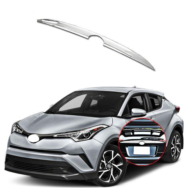 Toyota C-HR 2017-2019 ABS Chrome Rear Upper Trunk License Plate Tailgate Cover - NINTE