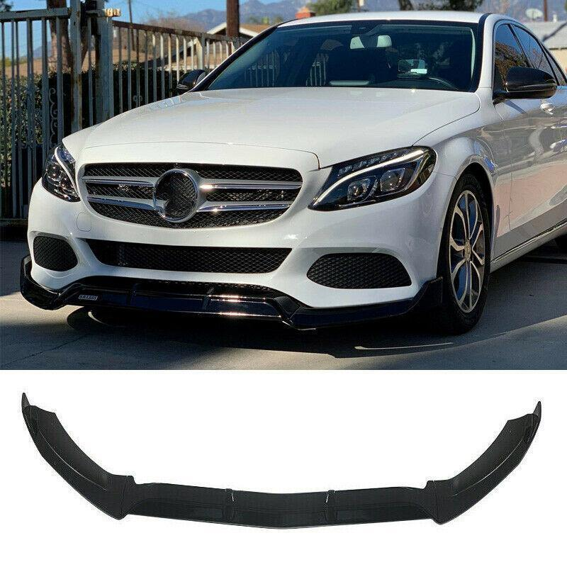 NINTE Benz 2015-2019 W205 C-Class Base Model 3PCS ABS Painted Front Bumper Lip Splitter