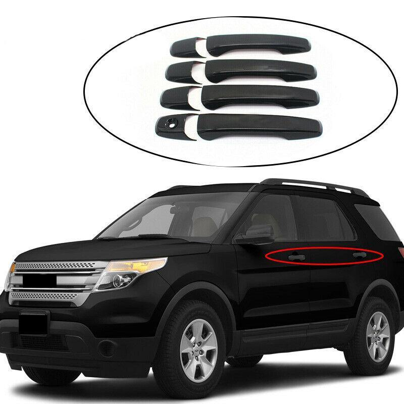Ninte Ford Explorer 2011-2018 Ford Edge 2012-2014 Gloss Black 4 Door Handle Covers without smart key hole - NINTE