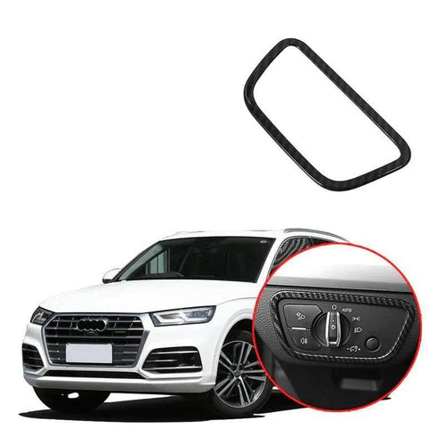 NINTE ABS Chrome Headlight switch Button decorative frame Trim For 2018 Audi Q5/Q5L - NINTE