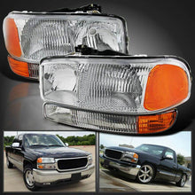 Load image into Gallery viewer, NINTE Headlights for GMC Sierra 1999-2006 Yukon 1500 2500 3500 2000-2006