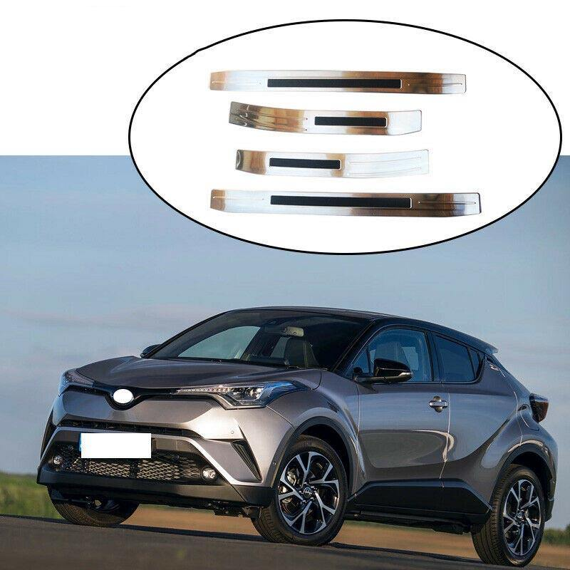 NINTE Toyota C-HR 2016-2018 Stainless Outer Door Sills Plate Thresholds Covers - NINTE