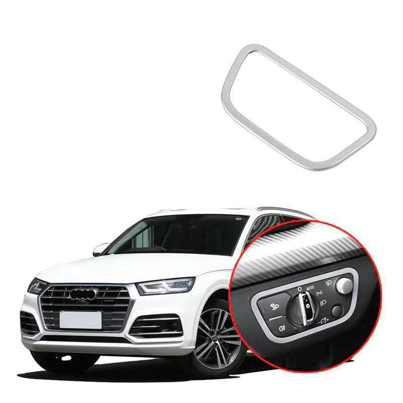 Ninte Audi Q5/Q5L 2018 ABS Chrome Headlight switch Button decorative frame - NINTE