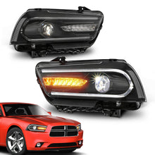 Load image into Gallery viewer, NINTE LED DRL Projectors Headlights w/ Dual Beam Front For 2011-2014 Dodge Charger