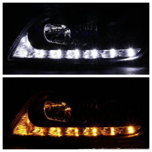 For 01-05 Lexus IS300 Black Integrated LED+Signal Projector Headlights Pair - NINTE