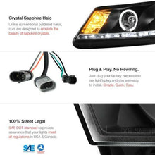 Load image into Gallery viewer, Halo Black Projector LED Headlight Lamp For Honda Accord 08-12 CP2 - NINTE