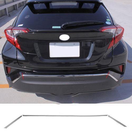 NINTE Toyota C-HR 2016-2018 3 PCS ABS Chrome Rear Upper Bumper Guard Board - NINTE