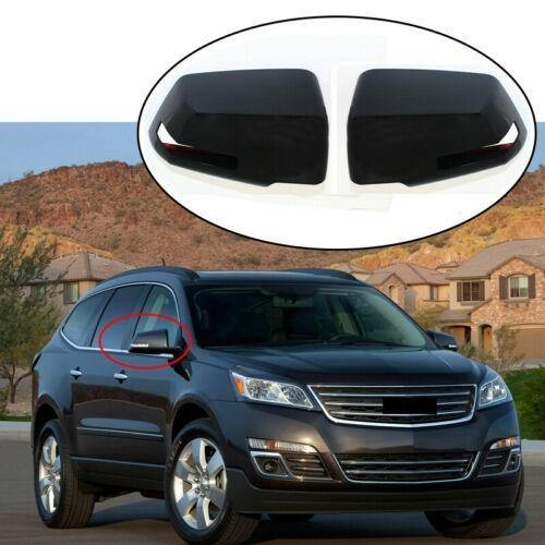 NINTE GMC Acadia Chevy Traverse Saturn Outlook w/Turn Light Gloss Black Mirror Covers - NINTE