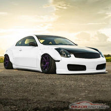 Load image into Gallery viewer, NINTE Infiniti G35 Coupe 2003-2007 Projector Black Headlights Pair [LED Halo] - NINTE