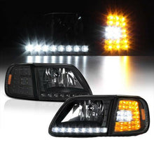 Load image into Gallery viewer, For FORD 97-03 F150 Black 4PC Headlight Corner Signal Lamp w/BRIGHT LED SMD Bulb - NINTE
