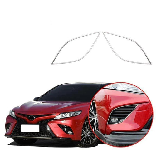 NINTE Chrome Front Fog Light Lamp Cover Garnish Trims For Toyota Camry SE XSE 2018-2019 - NINTE